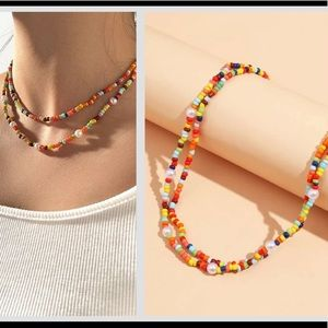 NEW! Colorful beaded layered necklace